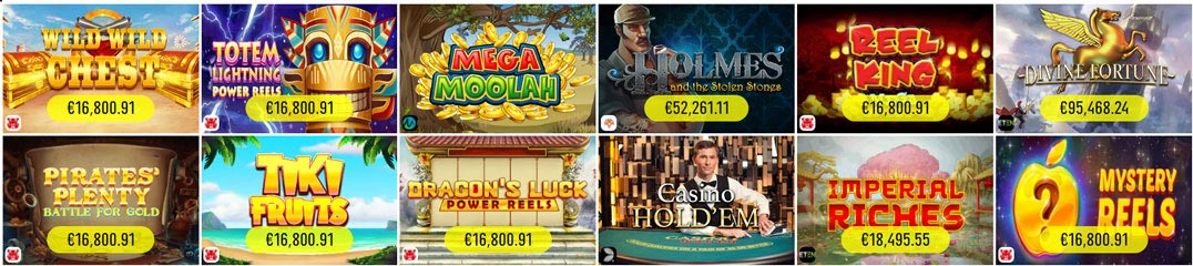 Spinit Casino jackpot games