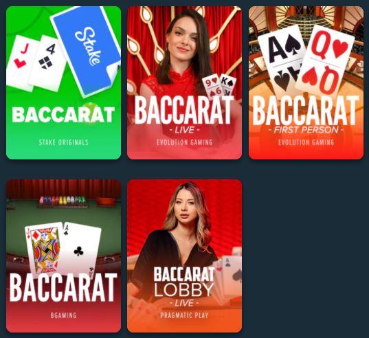 stake baccarat games