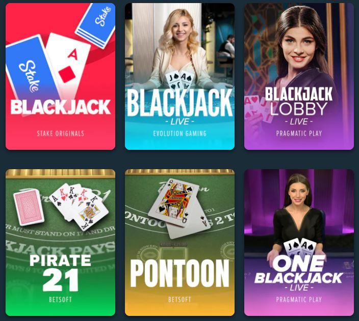 stake blackjack games
