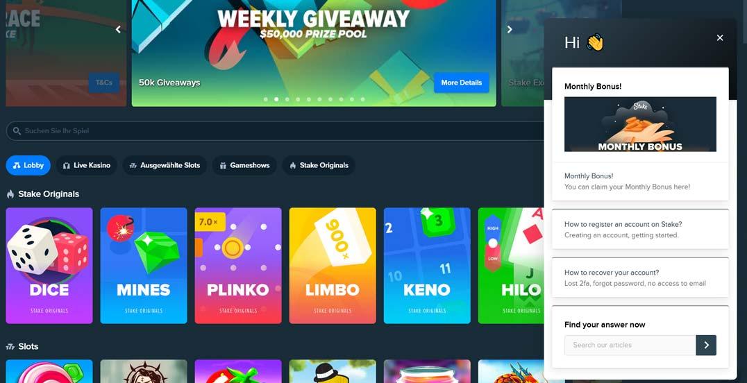Stake Casino Support