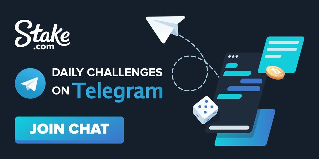 Stake Daily Challenges auf Telegram