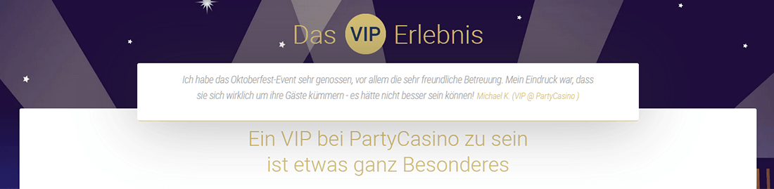 Partycasino VIP Program