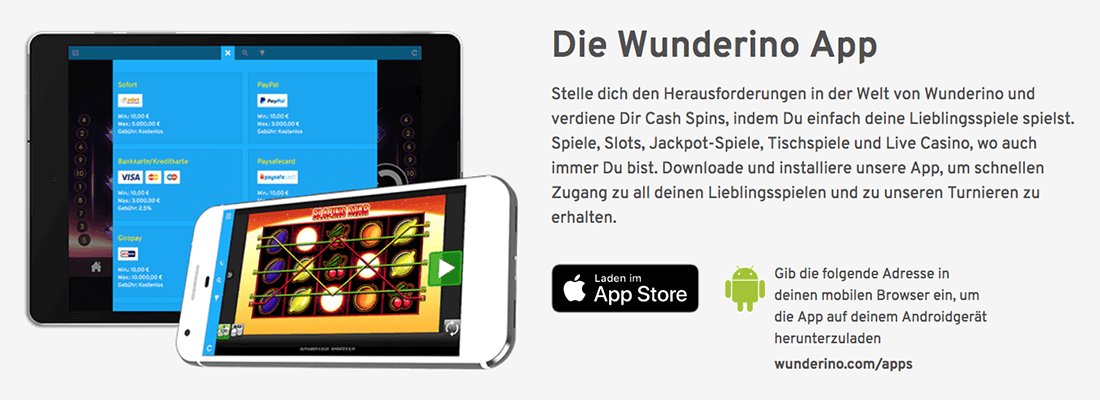 Wunderino App Banner
