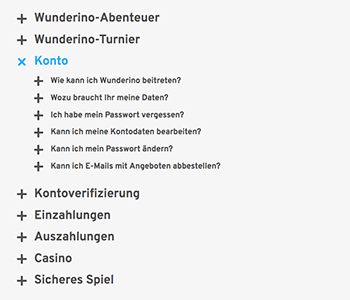 Wunderino FAQs